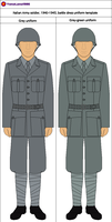 Italy Army WWII soldier battle dress template by YamaLama1986