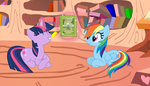 Rainbow Dash Shares Her New Book by Discourt