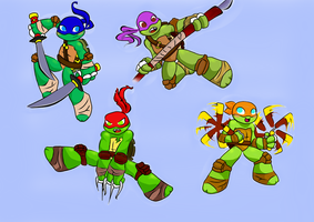 TMNT Chibis by AngelDark01