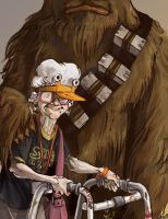 Granny Star Wars by weremagnus