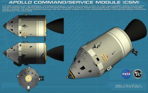 Apollo Command/Service Module ortho [new] by unusualsuspex