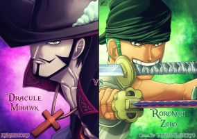Art KSG and Diabolumberto Mihawk vs Zoro  043 by kenseigoku