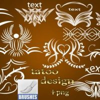 Tattoo Design Brushes by download12342