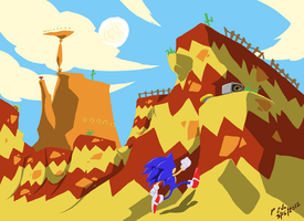 Sonic Origins: Scramble Canyon Zone by ProfessorZolo