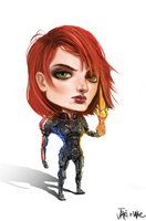 Mass Effect Commander Jane Shepard Chibi by We-Chibi