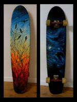 Crow Longboard by Laurazee