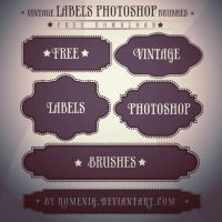 Free Vintage Labels Brush Set by Romenig
