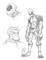 Dead Pool sketches by JoeyVazquez