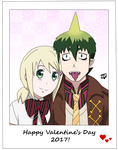 Happy Valentine's Day 2017 - Amaimon X Shiemi by JackFrostOverland