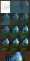 Forest Speedpaint - Steps by daPatches