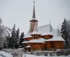 Romania-Wooden church by malaladanila