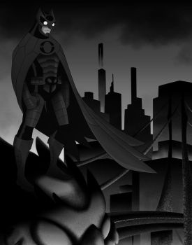 Digital Upload: Owlman Black and White 2015 by AndrewKyleSmith