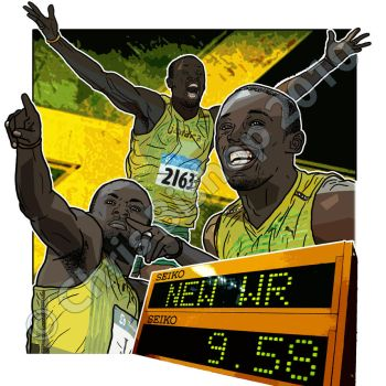 Usain Bolt by cbishop