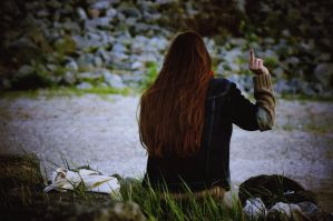Middle Finger by waldrose