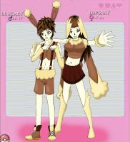 Buneary and Lopunny Ginjinka by Anonymous-Anime-Fan