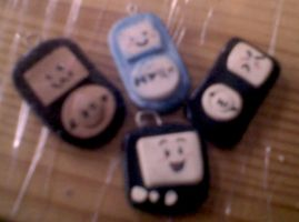 Sculpey iPods and TVthing by MorphicLunatic