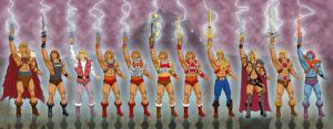 Man-E-Faces of He-Man by Toe-Knee-Bee-Ears
