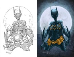 Batgirl with lineart by GarryHenderson