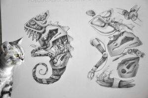 Mechanization and concept: Chameleon by GabrielleGrotte