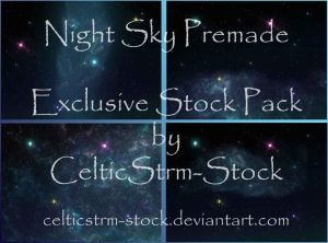 Blue Galaxy Premade Exclusive 4 Pack by CelticStrm-Stock