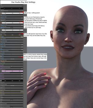 iRay Skin Settings by MadamGoth