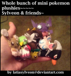 Whole bunch of mini pokemon plushies!!! by Latiasylveon