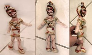 Needle felted Silent Hill Nurse by vrlovecats