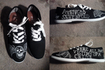 Avenged Sevenfold shoes WIP by foREVerA7Xfan
