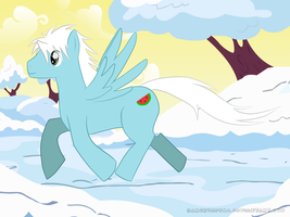 Galloping Through the Snow by Garchompdra