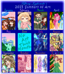 2015 Summary of Art and a Lot of Thanks by iTiffanyBlue