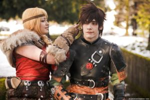 How To Train Your Dragon 2 ~ Hiccup and Astrid by YamatoTaichou