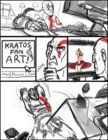 Kratos fan art by Newbeing