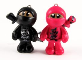 Ninja Love Charms by NeverlandJewelry