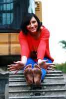 Dirty soles of feet - Tanja 013 by foot-portrait
