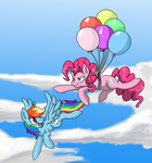 Flying Pinkie Pie by himanuts