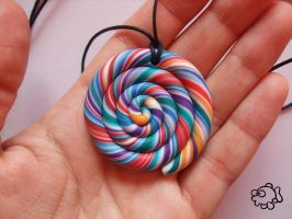 Lollipop Necklace 1 - Details by FunkadelicPsychoFish