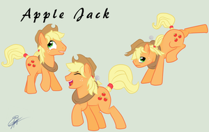 Apple Jack in stallion (a.k.a. Apple Jack) by IIAmethystSkyII