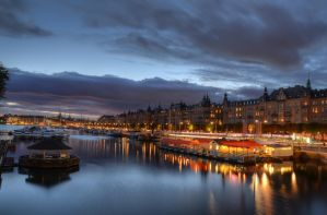 Ostermalm at Dusk V by HenrikSundholm