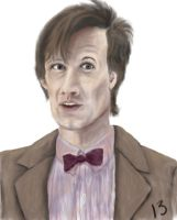 Matt Smith: portait by ThirteenthDoctor