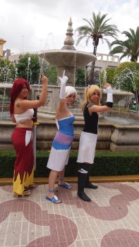 Erza, Lisanna and Lucy by Sakura5002