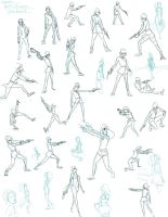 Mirish: Gesture Drawings by slyshand