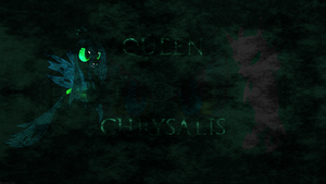 Queen Chrysalis wallpaper by Fragin