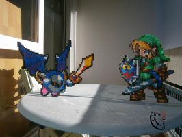 MetaKnight Versus Link (Shadow/ Light) by Cimenord