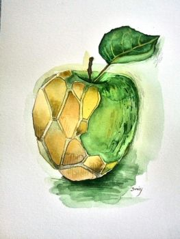 apple coloured by mimmy1602