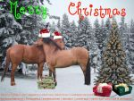 Christmas Layout competition horseland by absentOlive