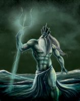Poseidon Illustration Drawing by Yarkspiri
