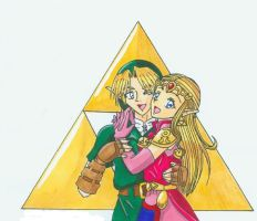 LINK AND ZELDA FOR EVER PEOPLE by chibikawaiizelda