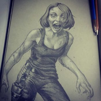 zombie Maggie by graphitenightmare