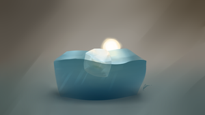 #HS - refs Ice cube and water by Illuday