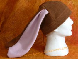 Fleece bunny hat by Mystic-Creatures